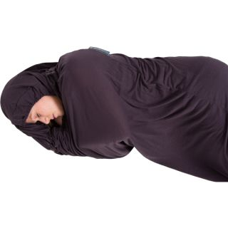 LIFEVENTURE THERMOLITE STRETCH SLEEPING BAG LINER WITH HOOD